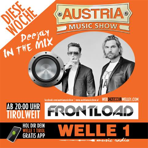 "Frontload in the ""Austria Music Show"" tonight!"